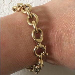 14kt Italian Made Rolo Link Bracelet